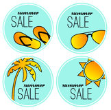 Summer sale stickers Royalty Free Stock Photography
