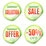 Summer Sale Stickers Stock Photos