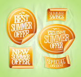 Summer sale stickers set Stock Images