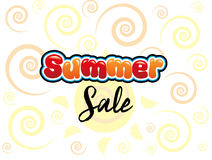 Summer Sale. In sun background Royalty Free Stock Photography