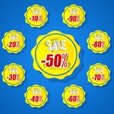 Summer Sale Sun Badges Royalty Free Stock Image