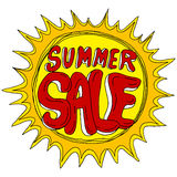 Summer Sale with Sun Royalty Free Stock Images