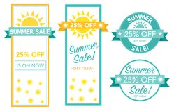Summer sale tag collection vector illustration stock photography