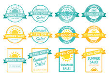 Summer sale tag set Royalty Free Stock Photos
