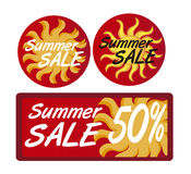 Summer sale tags Stock Photography