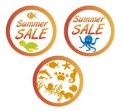 Summer sale tags Royalty Free Stock Photography