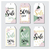 Summer Sale tags in vector. Beautiful summer,spring, element tags Royalty Free Illustration