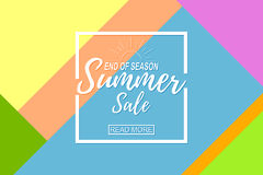 Summer sale template on abstract background. Royalty Free Stock Photography