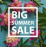 Summer sale template banner. Summer sale background with flowers. Banner, flyer, invitation, posters, brochure voucher discount Advertising stock images