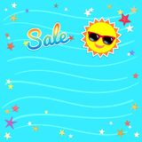 Summer sale template banner, vector illustration in colorful the Stock Images