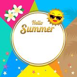 Summer sale template banner, vector illustration in colorful the Stock Photos