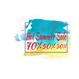 Summer sale template banner. VECTOR ILLUSTRATION, HOT Royalty Free Stock Photos