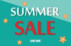 Summer sale template banner vector illustration. Stock Image