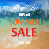 Summer sale template banner vector illustration. Royalty Free Stock Photography