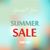 Summer sale template banner vector illustration. Royalty Free Stock Photo