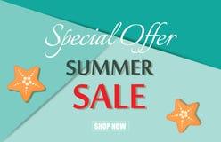 Summer sale template banner vector illustration. Stock Images
