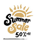 Summer Sale  template. Royalty Free Stock Photos