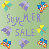 Summer sale template,  summer fashion sale,  summe Stock Photo