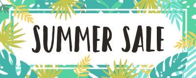Summer sale. Tropical style. Stock Photos