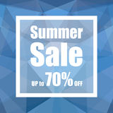 Summer Sale Up to 70% off with polygon abstract background style. design for a shop and sale banners. Royalty Free Stock Image