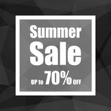 Summer Sale Up to 70% off with polygon abstract background style. design for a shop and sale banners. Stock Photography