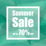 Summer Sale Up to 70% off with polygon abstract background style. design for a shop and sale banners. Vector ESP 10 Stock Photos