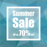 Summer Sale Up to 70% off with polygon abstract background style. design for a shop and sale banners. Royalty Free Stock Images