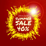 Summer sale vector background Royalty Free Stock Image