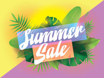 Summer sale. Vector background for posters and banners. vector illustration