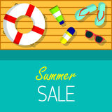 Summer sale Vector background for web, banner, promotion, flyer, cover, brochure Stock Photography