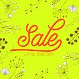 Summer sale vector banner design. Pink lettering Stock Image