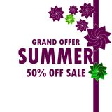 Summer Sale vector illustration eps10. Background business buy commercial design discount eps10 graphic illustration isolated letters market number off offer Royalty Free Stock Photography