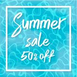 Summer sale vector illustration, Top view of summer Royalty Free Stock Images