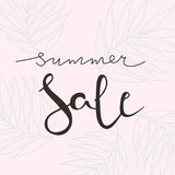 Summer sale vector lettering illustration for banners. Summer sale calligraphy background. Summer sale typography poster. Good for banners, covers, card, web Royalty Free Stock Image