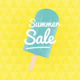 Summer Sale. Vector triangular background with ice-cream. Royalty Free Stock Photography