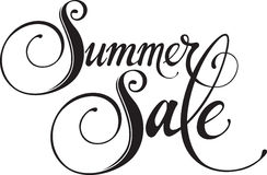 Summer Sale. Vector version of my own calligraphy Royalty Free Stock Photography