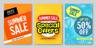 Summer sale vector web banner designs and special offers vector illustration