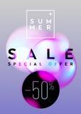 Summer Sale Vertical Banner Design. Abstract Gradient Blurs   Stock Photos