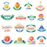 Summer sale vintage badges set. Royalty Free Stock Photos