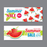 Summer sale voucher background template. Discount coupon. Banner Stock Photography