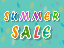 Summer sale. Watercolor artuistic font royalty free stock images