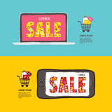 Summer sale web banners Stock Photos