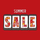 Summer sale web banners Royalty Free Stock Image