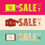 Summer sale web banners Stock Image
