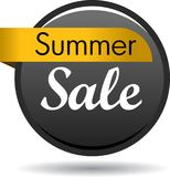 Summer sale web button icon. Vector illustration isolated on white background - summer sale web button icon Stock Photo