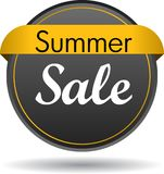 Summer sale web button icon. Vector illustration isolated on white background - summer sale web button icon Stock Photos