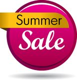 Summer sale web button. Vector illustration isolated on white background - summer sale web button icon Stock Image