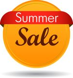 Summer sale web button. Vector illustration isolated on white background - summer sale web button icon Stock Images
