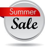 Summer sale web button. Vector illustration isolated on white background - summer sale web button icon Royalty Free Stock Photography