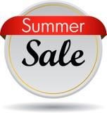 Summer sale web button. Vector illustration isolated on white background - summer sale web button icon Stock Photos